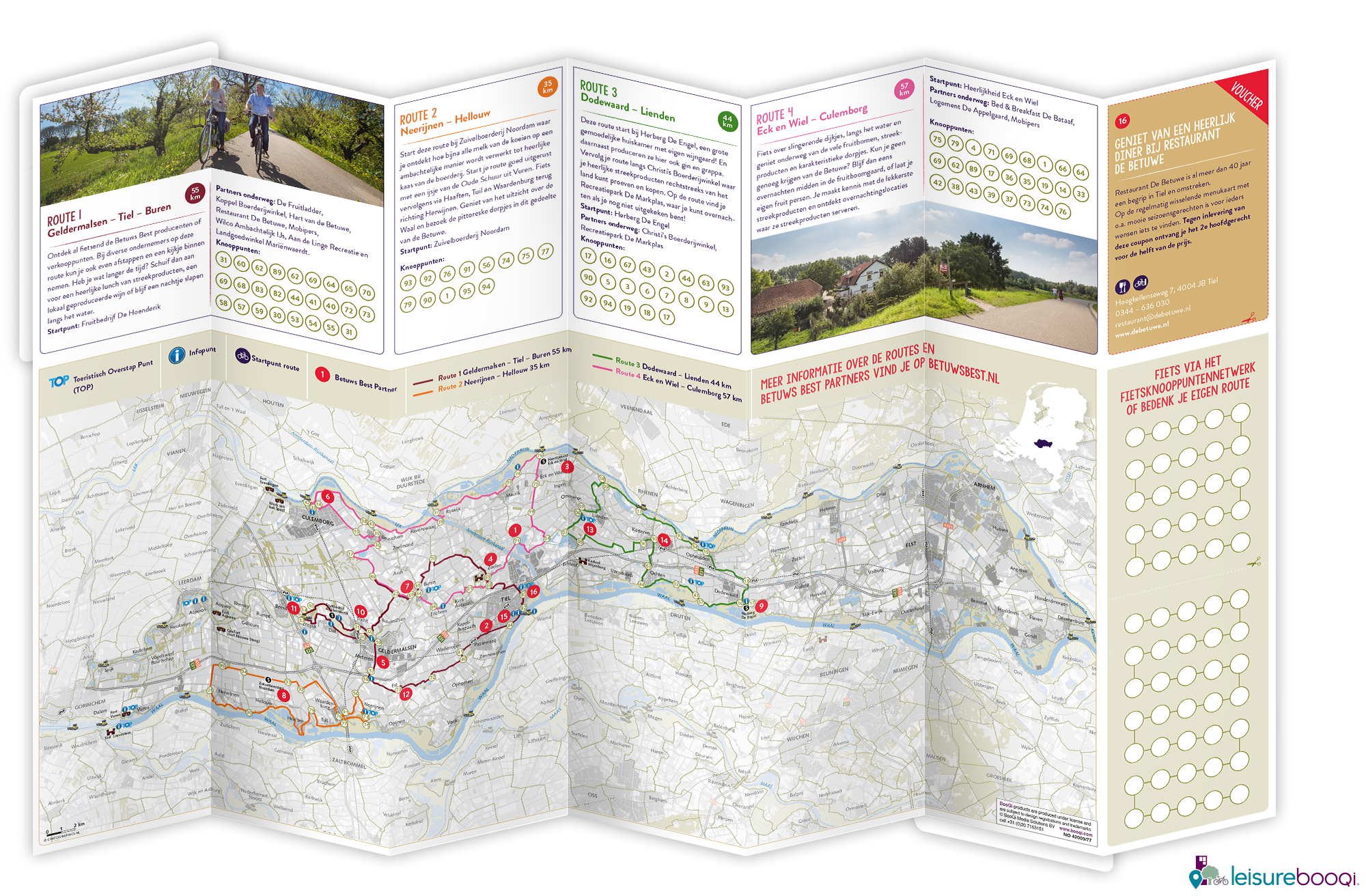 3d visual fietsroutekaart streekfietsroute betuws best