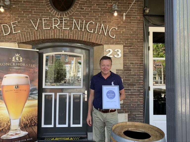 Café Restaurant De Vereniging ontvangt certificaat Betuws Best